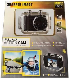 New Sharper Image Full Hd 1080p Action Go Cam Pro Video 12 Mp