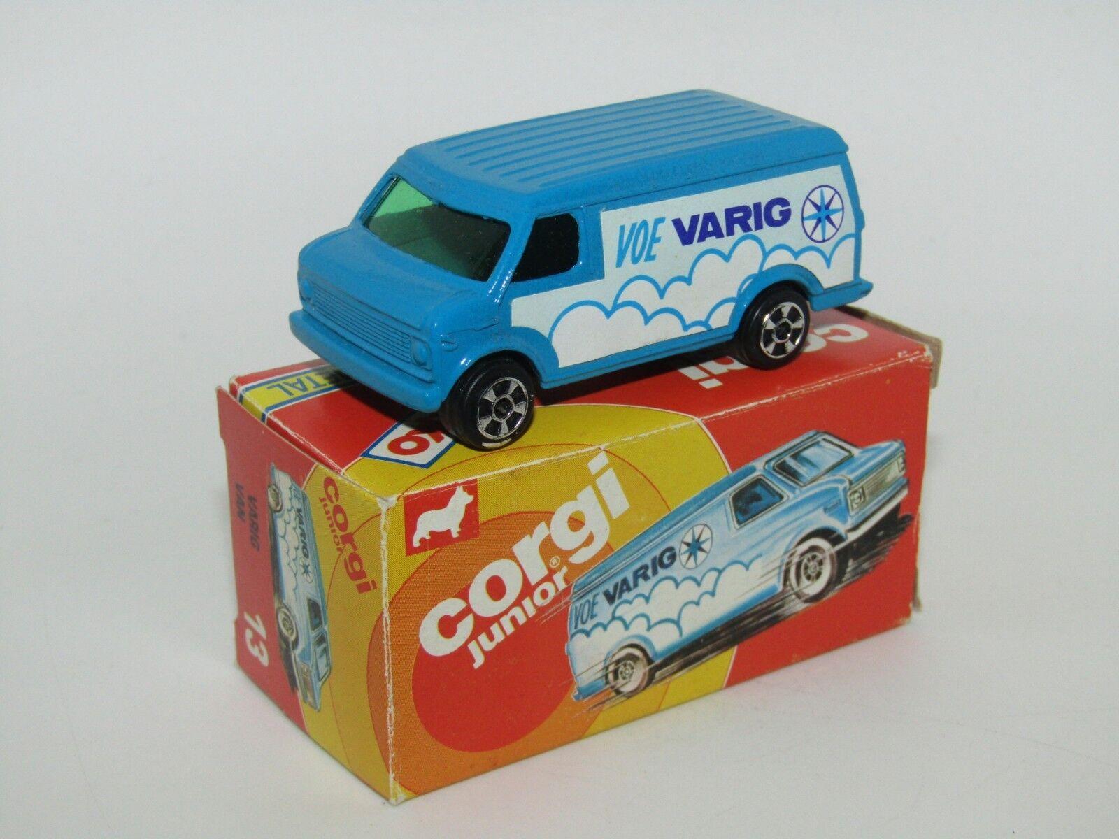 Corgi Juniors Brazil (KIKO) No 13 Chevrolet Van Voe Varig Green Glass MIB RARE