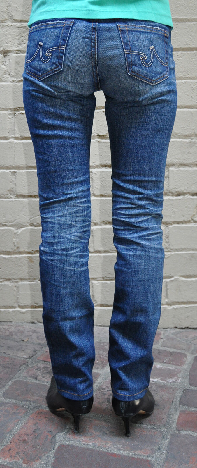 AG Adriano goldschmied The Premiere 15 YR bluee Jeans 25 R Womens USA