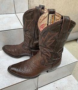 Bottes Cowboy / Santiag  MONTANA Tout Cuir  T 43,5 TRES BON ETAT