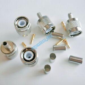 5Pcs-TNC-Male-plug-crimp-For-RG58-RG142-RG400-LMR195-cable-RF-Connector
