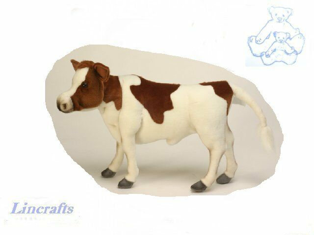 Hansa Brown White Cow 4983 Plush Soft Toy Sold by Lincrafts Established 1993