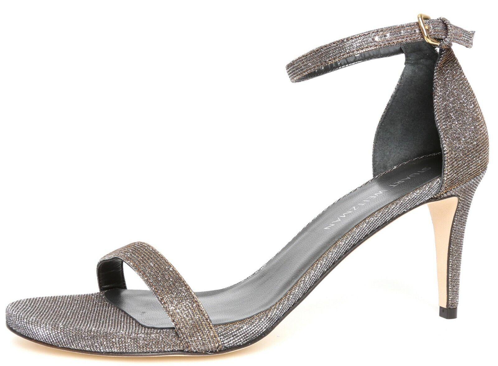Stuart Weitzman nunaked Femme Pyrite Darkened Paillettes d'Orsay Sandales Sz 10 8003