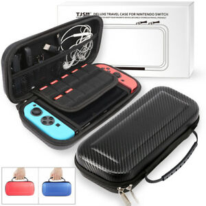 NS-Switch-Carrying-Case-Carbon-Fiber-Hard-Shell-Portable-Pouch-Travel-B-gfNM-V