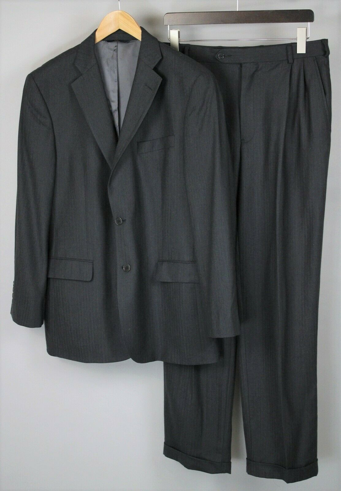 BROOKS BredHERS STRETCH Men or X LARGE, W34 L33 Wool Formal Suit RCS12823