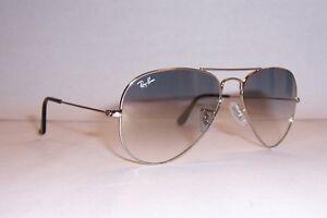 NEW RAY BAN AVIATOR Sunglasses 3025 003 32 SILVER GRAY 55MM ... e7b12953f55e