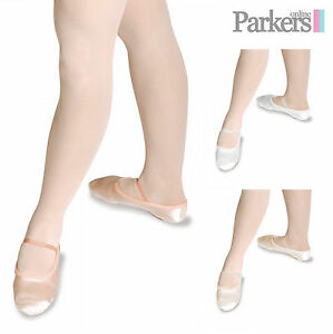 NEW-GIRLS-ADULT-PINK-SATIN-BALLET-SHOES-DANCE-BRIDESMAID-4C-11A-PINK-IVORY-WHITE
