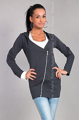 Sensible Women's Hooded Jacket Long Sleeve Blazer Cardigan Size 8-12 8372