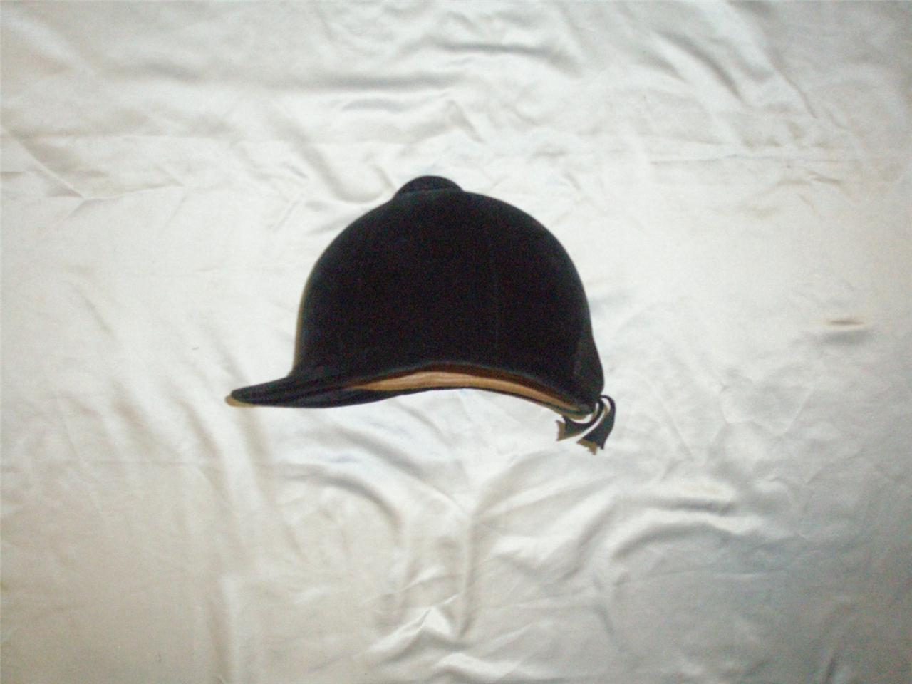 Excelente Vintage Negra De Equitación Sombrero 6 5 8 por Lock & Co London