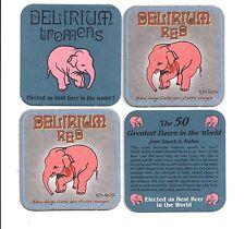 4x Sous Bock Beer Coaster Bier Deckel DELIRIUM TREMENS RED  ## 2