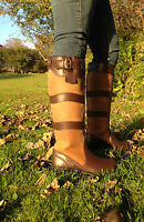HORSE RIDING YARD COUNTRY BOOTS LEATHER sizes 4 - 11 adult UK