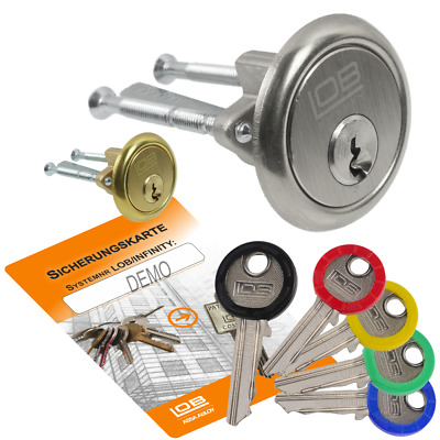 Schließzylinder mit 5 Schlüssel ASSA ABLOY LSTD Schlüssel-System Ein
