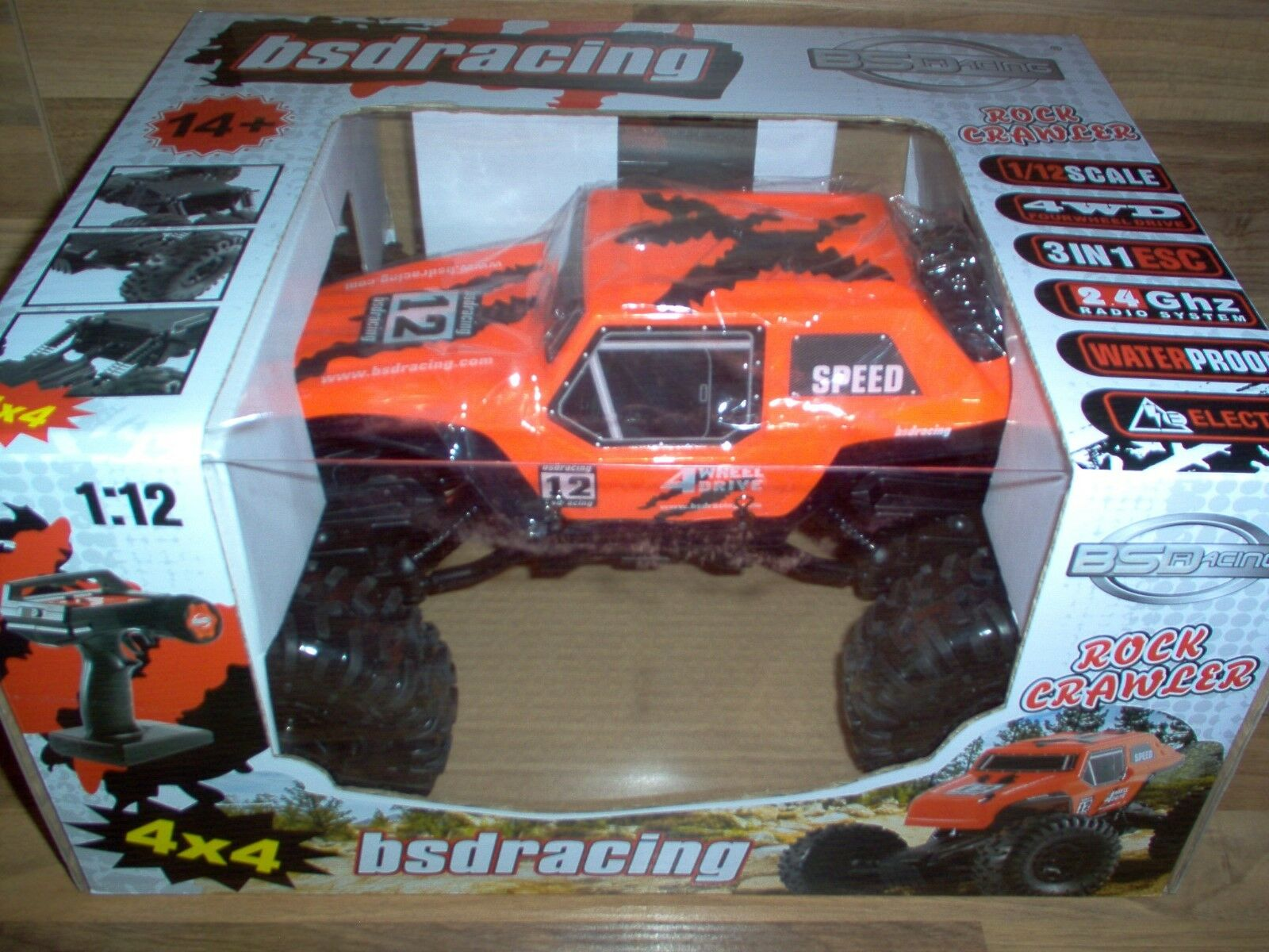 BSD Racing RC - Rock Crawley 4x4   1 12   4WD   2,4GHz   RTR orange BT1001 NEUF