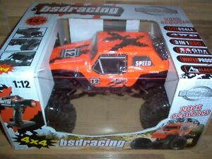 Bsd Racing Rc - Rock Crawler 4x4 / 1:12 4wd 2,4ghz Rtr Orange Bt1001 Neuf