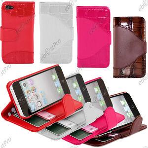 Accessoire-Housse-Coque-Etui-PU-Cuir-Livre-Portefeuille-Apple-iPhone-5-Film