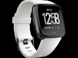 Reloj deportivo - Fitbit Versa, GPS, Sumergible, Ritmo cardíaco, Blanco y negro