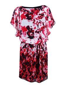 SL-Fashions-Women-039-s-Chiffon-Floral-Print-Blouson-Dress