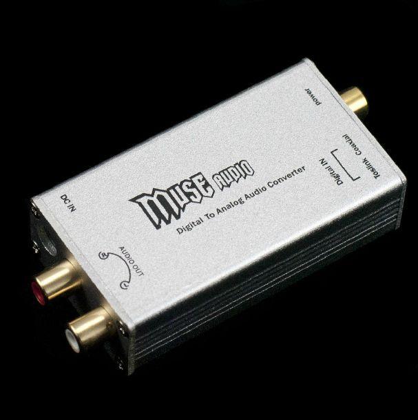 Muse 24Bit/192Khz Digital Optical Coaxial to Analog RCA Audio Converter DAC