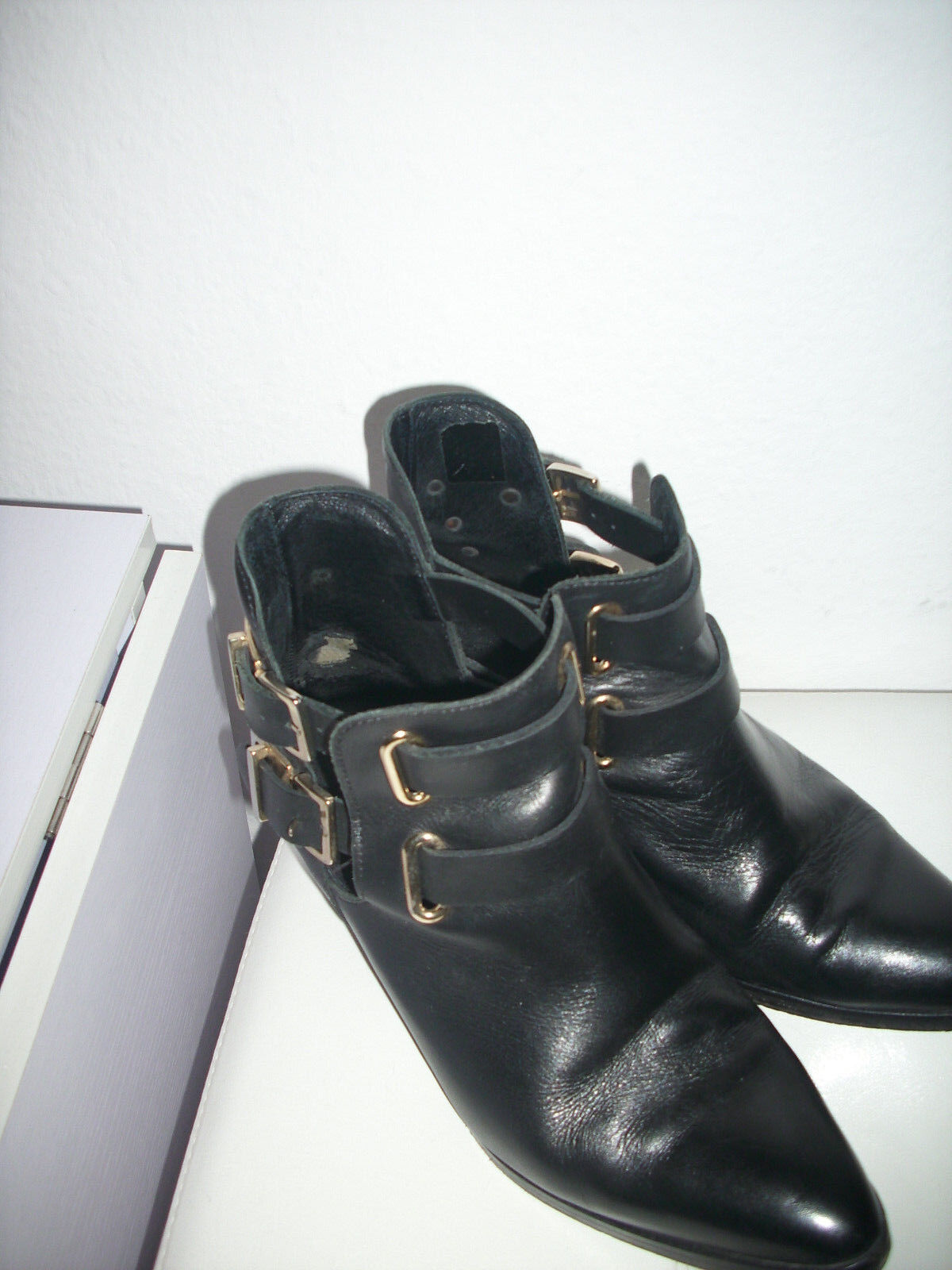 Sandro cut gold out Boots 38 schwarz gold cut 47d902