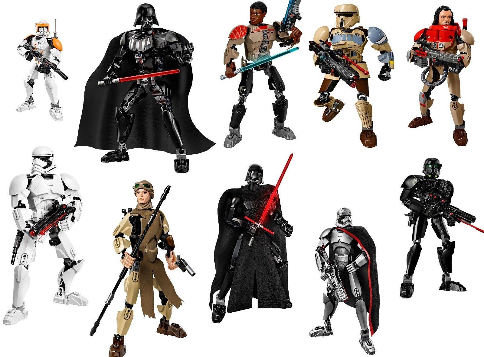 LEGO Star Wars TEMPERAMATITE Raccolta Figure Set Bundle 75118 75108 75111 75523