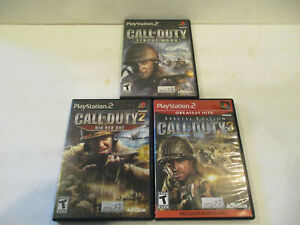 Call of Duty 2,3 & Finest Hour  Ps2 in Very Good condtion With Manual Free Ship