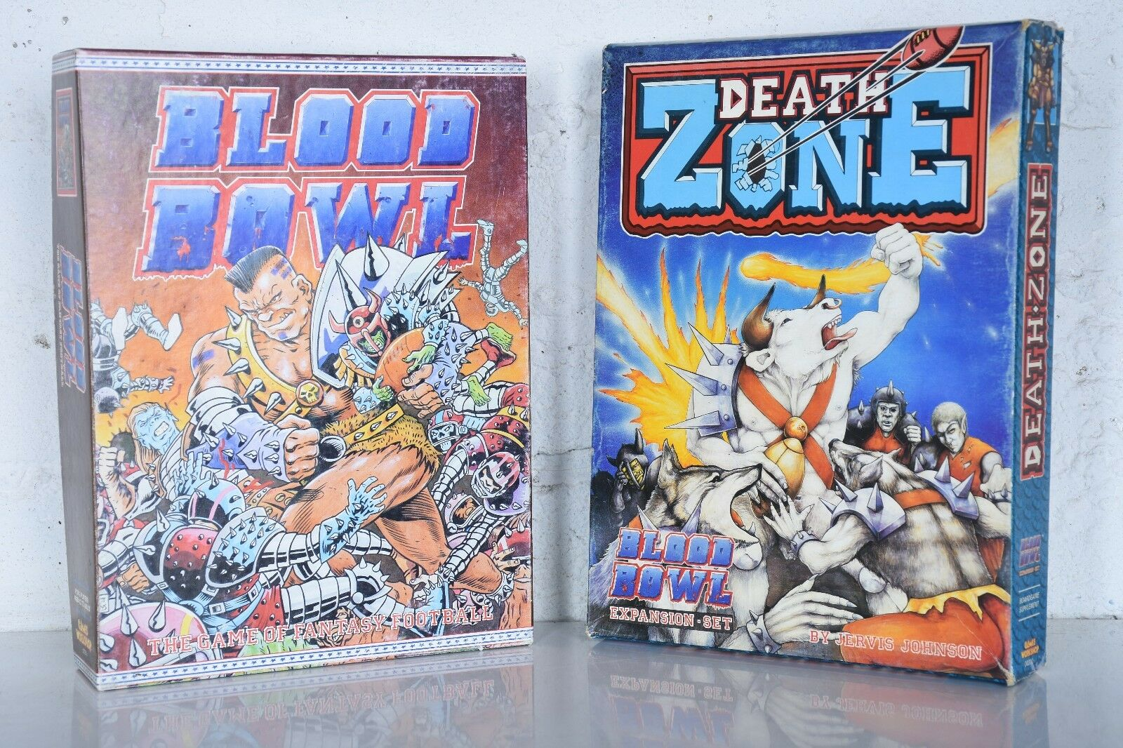 1st Edition 1986 Blood Bowl Fantasy Football Game 1987 Death Zone Expansion