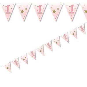 1ST-premier-anniversaire-one-little-star-twinkle-drapeau-papier-bunting-decoration-12FT