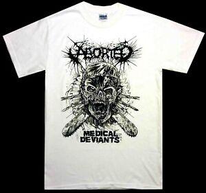 Aborted-Medical-Deviants-White-Shirt-S-M-L-XL-Death-Metal-Offcial-T-Shirt-Tshirt