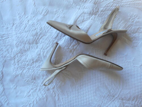 Azagury Net 4 Stiletto Satin A Porter 37 Shoes Leather Slingback Joseph Beige vOnZOtHW
