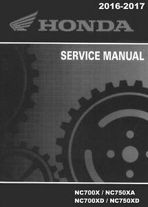 Honda 2016 2017 nc700 nc750 x xa xd service manual on cd ebay image is loading honda 2016 2017 nc700 nc750 x xa xd cheapraybanclubmaster Images
