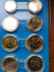 finlande 2011 série 8 pièces neuves sous capsules