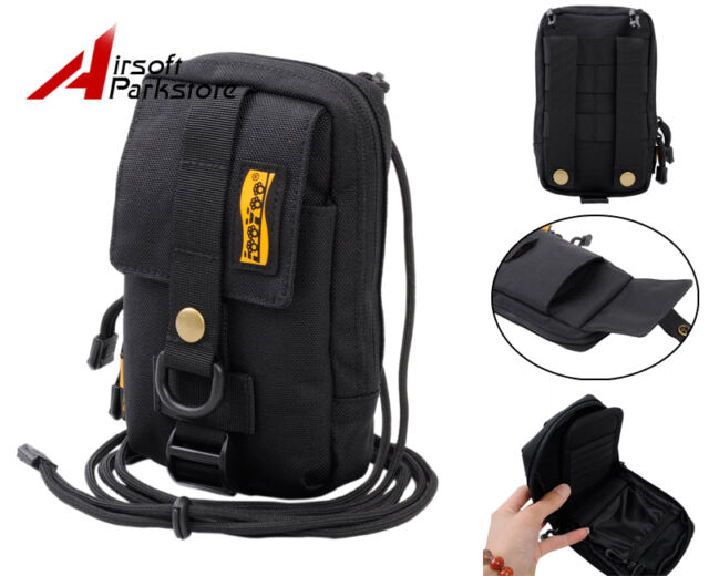 "LooYoo Tactical Molle 1050D Waist Bag 6.3"" Cellphone Pouch for Galaxy Mega Black"
