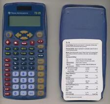 TEXAS INSTRUMENTS MODEL TI-15 EXPLORER SCIENTIFIC SCHOOL CALCULATOR W/COVER