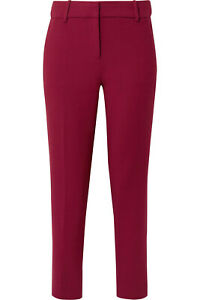 J. CREW burgundy stretch tapered Cameron pants - size US 2 - trousers - NEW