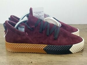 timeless design 3baff ed716 Details about ADIDAS Originals ALEXANDER WANG X AW Skate Maroon Gum BY8909  US Sz 5 - UK 4.5
