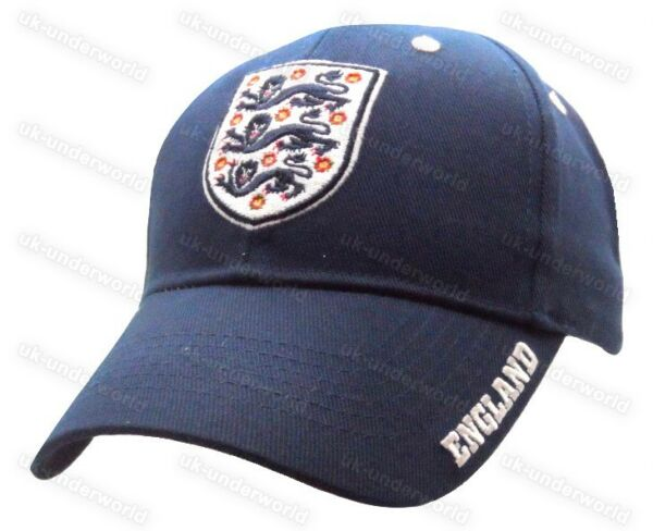 ed9acc02918 England Football Baseball Cap Official FA 3 Lions Mens Ladies Summer Sun Hat.  Hover to zoom