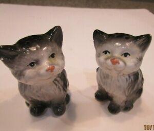 Vintage-Cat-Kittens-Salt-amp-Pepper-Shakers-Ceramic-No-Stoppers