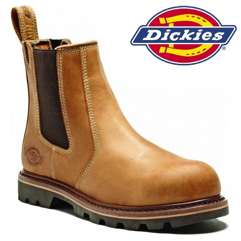 MENS DICKIES LEATHER LEATHER LEATHER DEALER SAFETY WORK