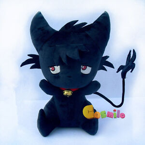 SERVAMP Shirota Mahiru Kuro Plush Doll Toy Black Cat SleepyAsh Kid/'s Gift New