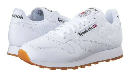 Gum Sneakers Trainers Tennis Shoes Grey Black Reebok Classic Leather White