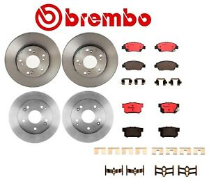 For-Honda-Civic-Front-and-Rear-Brake-Kit-Coated-Disc-Rotors-Ceramic-Pads-Brembo