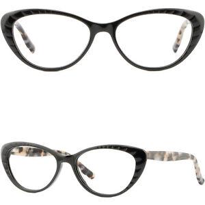 Leicht Rot Cateye Damen Brille Brillengestell Fassung Plastik Gestell Federbügel BPnh3j