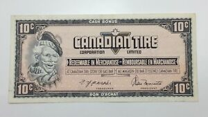 1974-Canadian-Tire-10-Ten-Cents-CTC-S4-C-CM-Circulated-Money-Banknote-E149