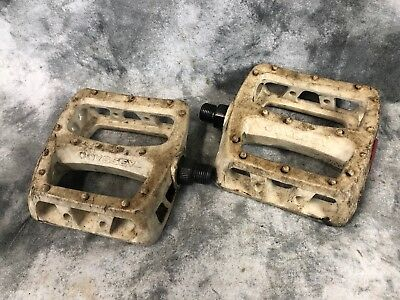 "ODYSSEY TWISTED PC WHITE 9//16/"" 3-PIECE CRANK BMX BICYCLE PEDALS"
