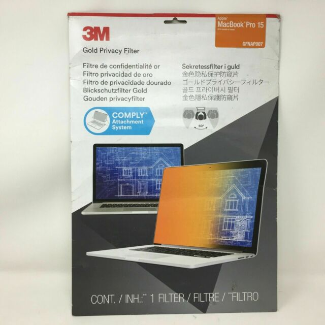 3M Gold Privacy Filter for Apple MacBook Pro 15 GFNAP007