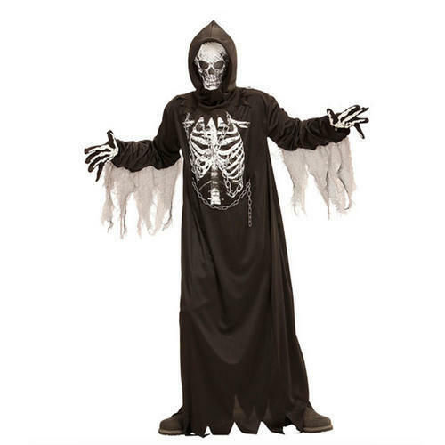Boys Kids Childs Chain Halloween Grim Reaper Fancy Dress Costume Outfit 4-5 Yrs