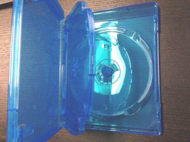 10 Triple 3-Disc Blue Blu Ray Standard Translucent XBox Game Movie Case 14mm