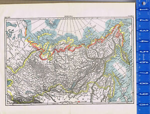 Map Of Asia To Print.Siberia Russian Province Northern Asia Map Print 1907 Ebay