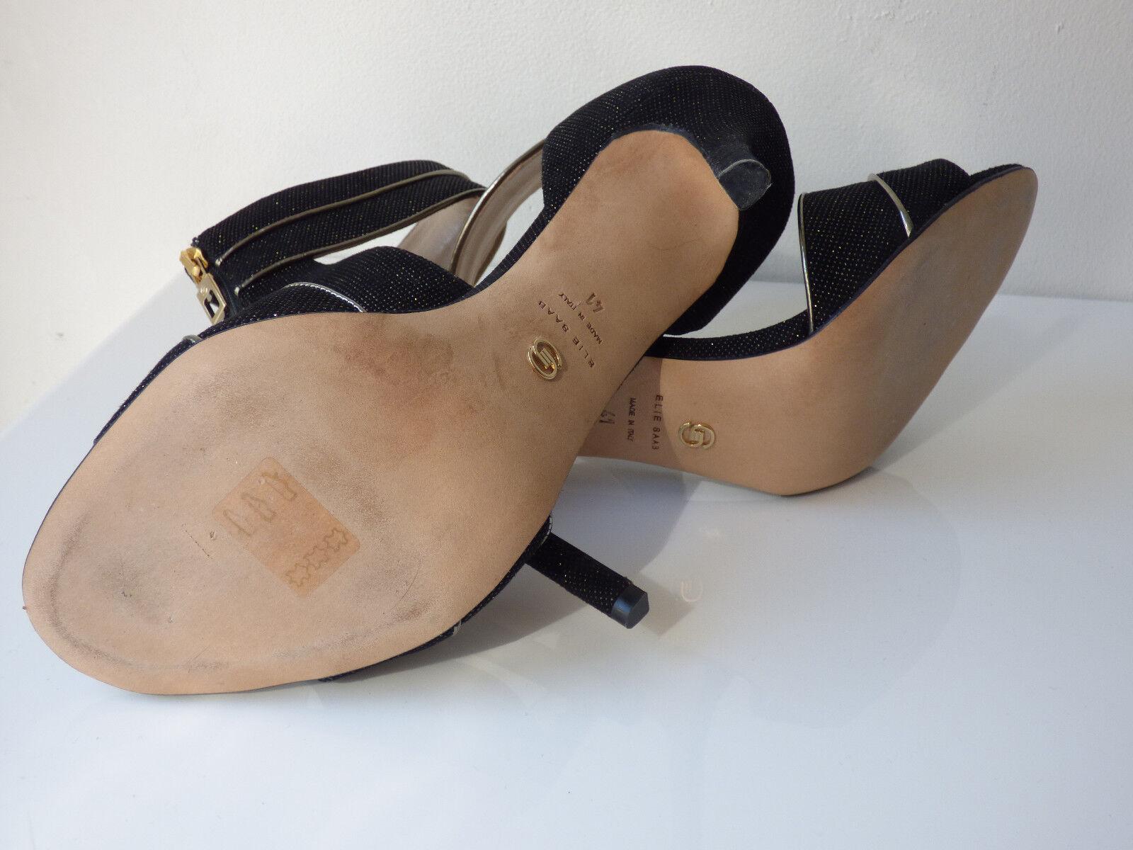 Escarpins en cuir black et doré ELIE SAAB SAAB SAAB 0fe6c0