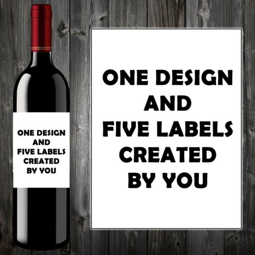 Personalised Wine//Champagne Bottle Label Christmas Gift Cat Sister Aunt Mum Her
